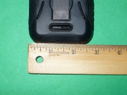 2.75 inches wide with case